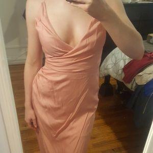 THE JETSET DIARIES Soft Pink Midi Dress